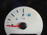 empty fuel tank gauge poster