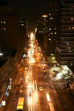 Нью-Йорк улице в ночное время