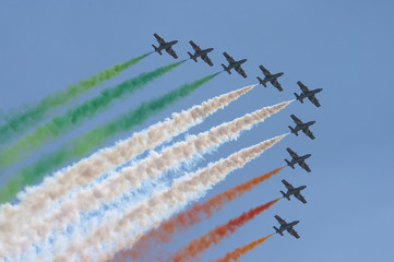 italian pilots in the sky.