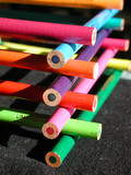 stacked pencil crayons poster