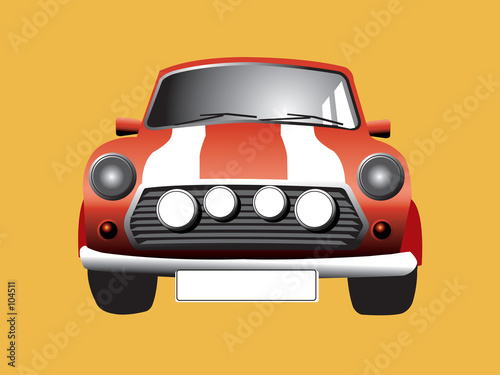 Spoed canvasdoek 2cm dik Cars here somes the mini
