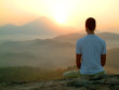 man sunrise meditatiion
