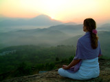 sun rising meditation poster