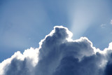 cloud and sunray poster