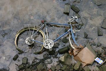 racing bike in river