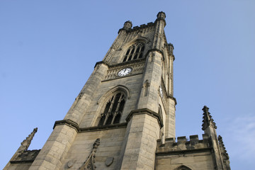 bombed out church steeple