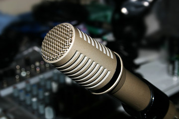 microphone and mixe