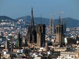 stadtansicht von barcelona poster