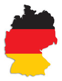 silhouette of germany poster