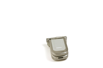 isolated cellular phone - focus on the top