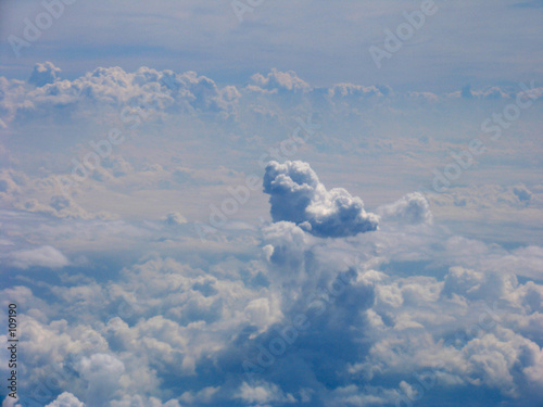 poster of aerial view on clouds field