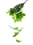 Fototapety falling salad leaves