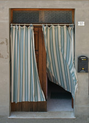 blowing curtain in doorway 2