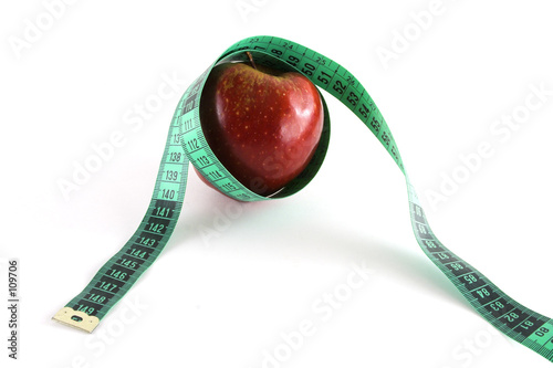 red apple and tape