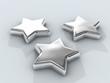 three chrome stars