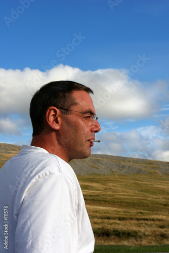 a man deep in thought