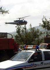 hélicoptère, police et pompiers
