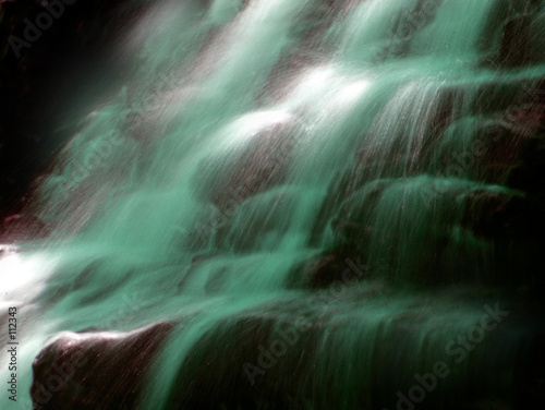 green water waterfall