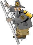 fireman on a ladder poster