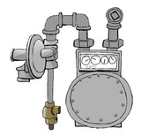 natural gas meter set poster