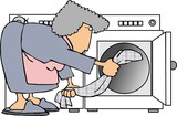 washing clothes poster