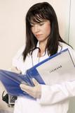 entering patient info poster