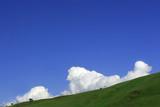 cumulus clouds rising poster