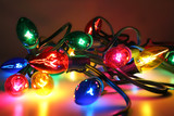 christmas tree lights poster