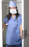 surgeon in scrubs poster