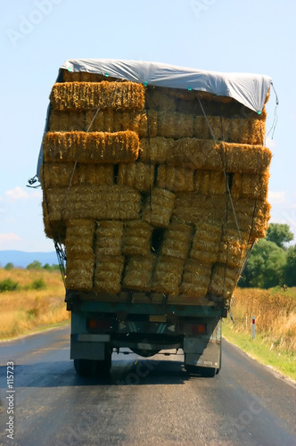 overloaded hay truck in the west coast of turkey