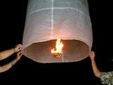 flying lantern poster