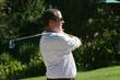 staring golfer