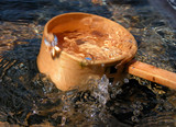 bamboo ladle and splash poster