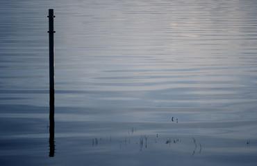 lake reflections at dusk