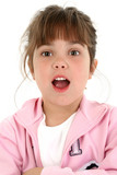 beautiful little girl with shocked expression poster