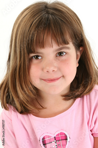 poster of close up of beautiful five year old girl