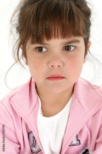 poster of close up of sad five year old girl