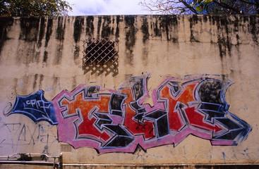 mur taggé