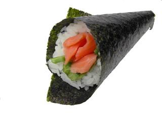 hand roll salmon sushi