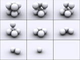 spheres in steps