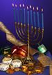 fully lite hanukkah menorah