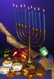 fully lite hanukkah menorah