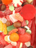 candy pile closeup poster