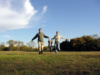 running family autumn