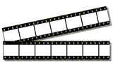 film strips (clip path) poster