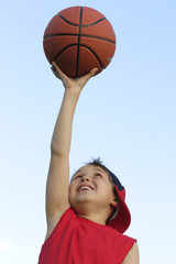 boy with a basketball