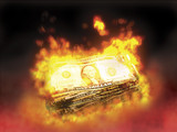 burning money poster