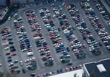 full parking (lot of cars) poster
