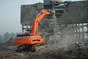 dismantling ruin by digger #2
