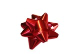 red christmas bow poster